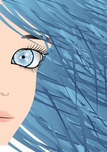 Hvordan til at farve hår blå & sort