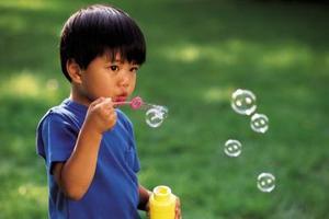 En High School Science Fair Project med bobler