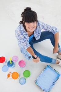 Hvordan at rengøre plastic maling bakker
