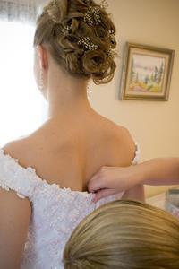 Updo frisurer til en brudepige