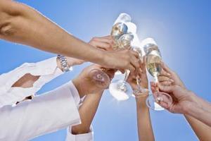 Champagne bryllup temaer