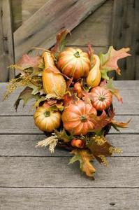 Efterårssæsonen centerpieces til borddekoration