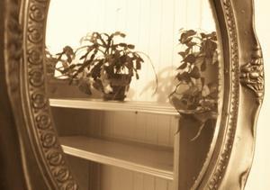 Sådan Monter rammen på et ovalt spejl