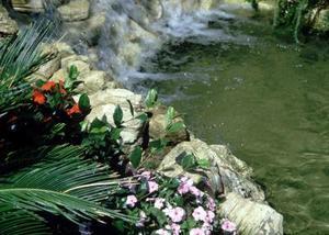 Landskabspleje Design med vandfald Fountains