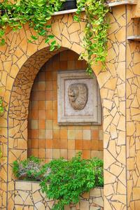 Hjemmelavet væg fontæner