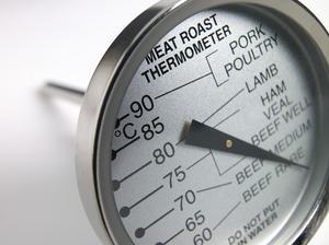 Korrekt brug af kød termometre