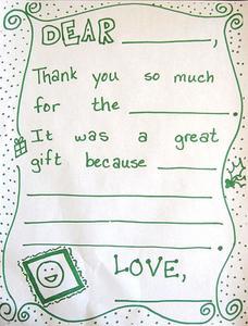 Hvornår skal sende en tak note
