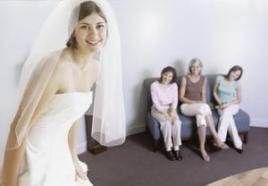Brude frisurer med et slør