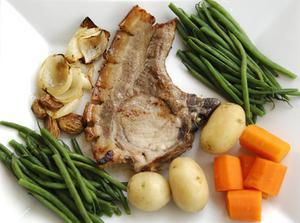 Svinekotelet opskrifter med fløde af champignon suppe